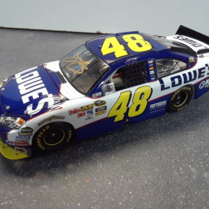 JIMMIE JOHNSON 2010 NEW HAMPSHIRE WIN SIGNED ( CUSTOM MADE)