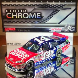 Tony Stewart #14 Office Depot Honoring Our Heroes 2011 Action Color Chrome 1:24