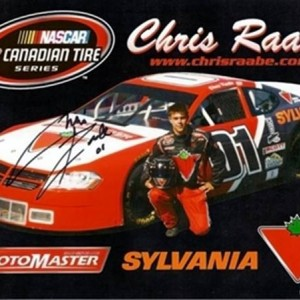 AUTOGRAPHED Chris Raabe Sylvania/Canadian Tire Dodge Avenger