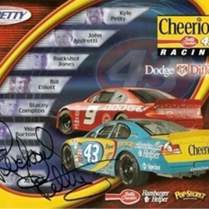 "2001 Dodge Motorsports ""One-Team"" Hero Card, AUTOGRAPHED by PETTY"