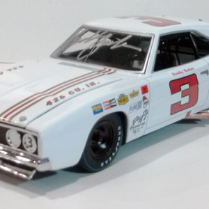 University of Racing/Icons Buddy Baker #3 Ray Fox Royal 1969 DODGE Charger 500, Autographed