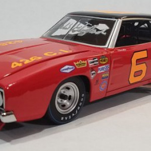 University of Racing 1969 Charlie Glotzbach #6 Southside Inc. Dodge Charger 500,  Autographed